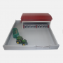 Model 6c red cattle shed with yard
